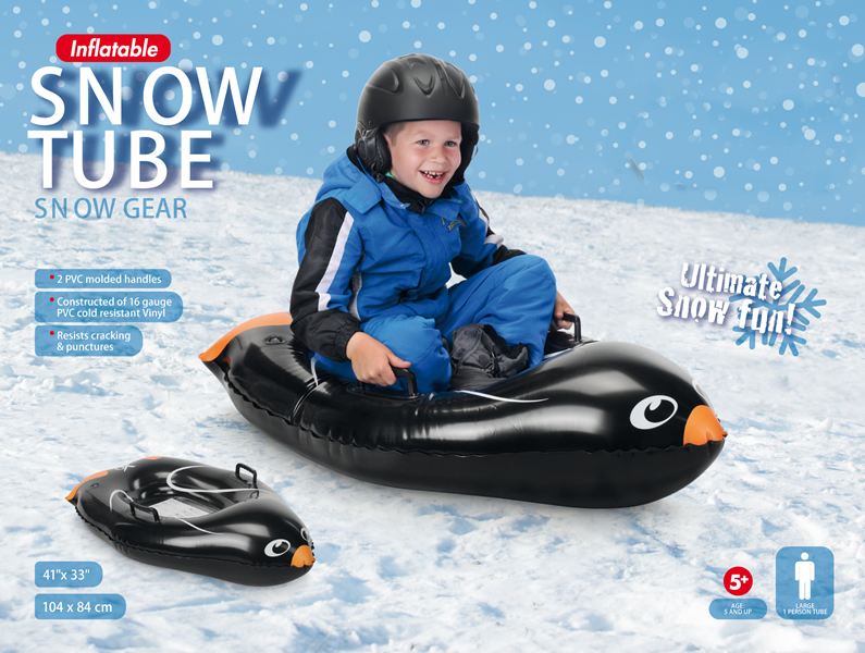 Inflatable Penguin Snow Tube