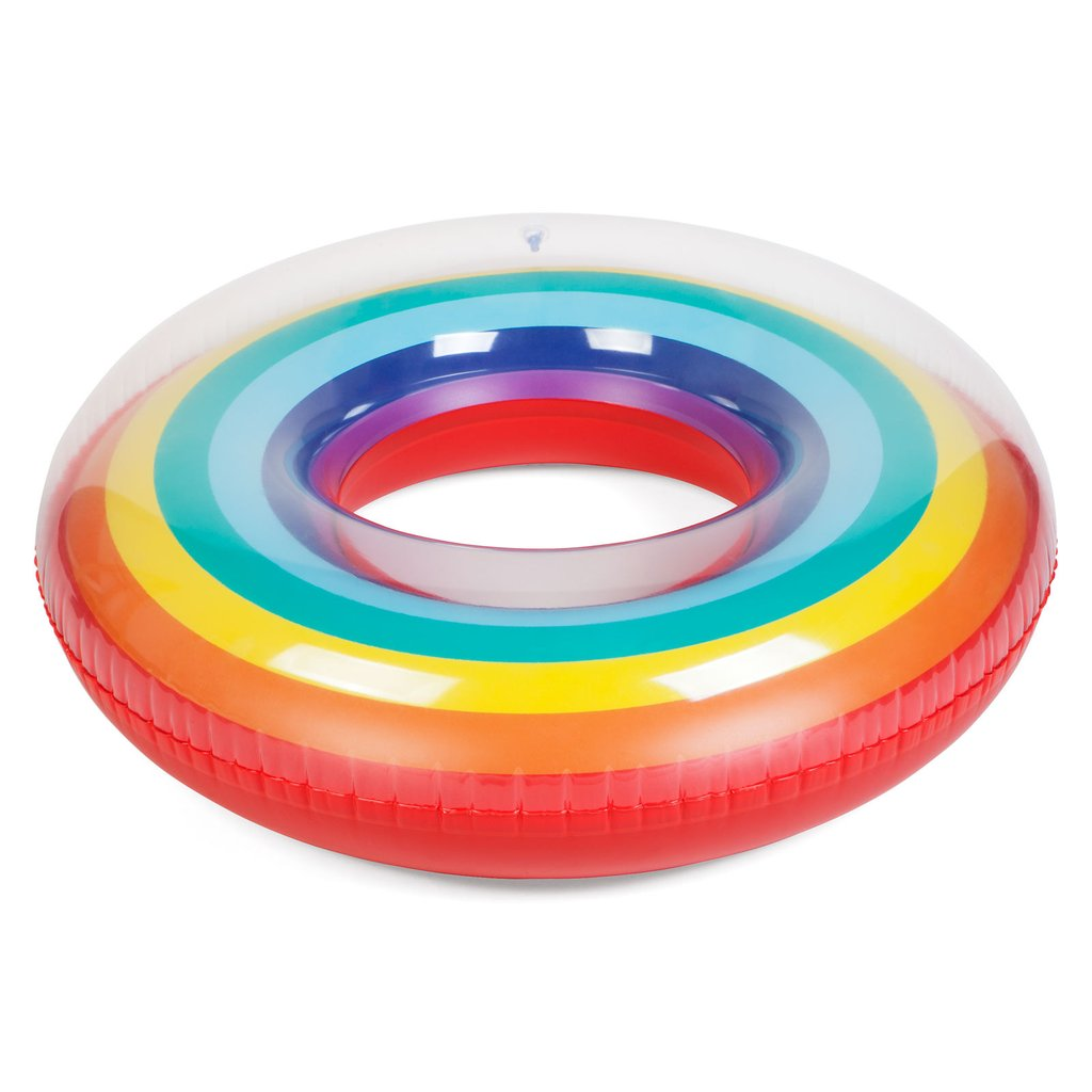 Summer Colorful Hot sale Rainbow Inflatable Pool Ring