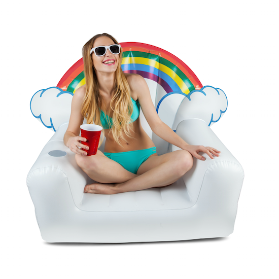 SOMEWHERE OVER THE RAINBOW INFLATABLE CHAIR