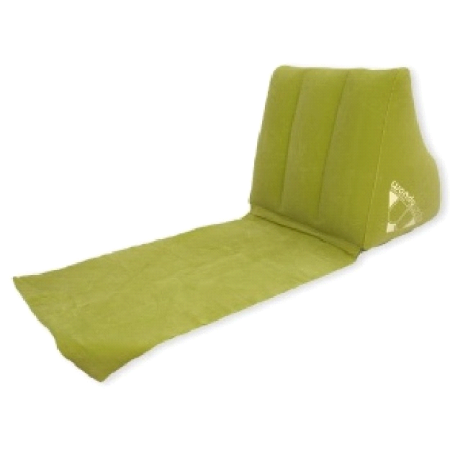 Wedge Inflatable Back Support Reading Pillow w/ Permanent Mat