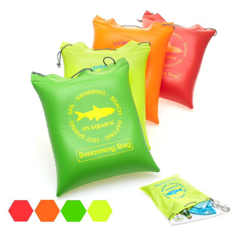 Outdoor Travel Waterproof Inflatable Air Cushion Pad Pillow Beach Bag Storage Organizer