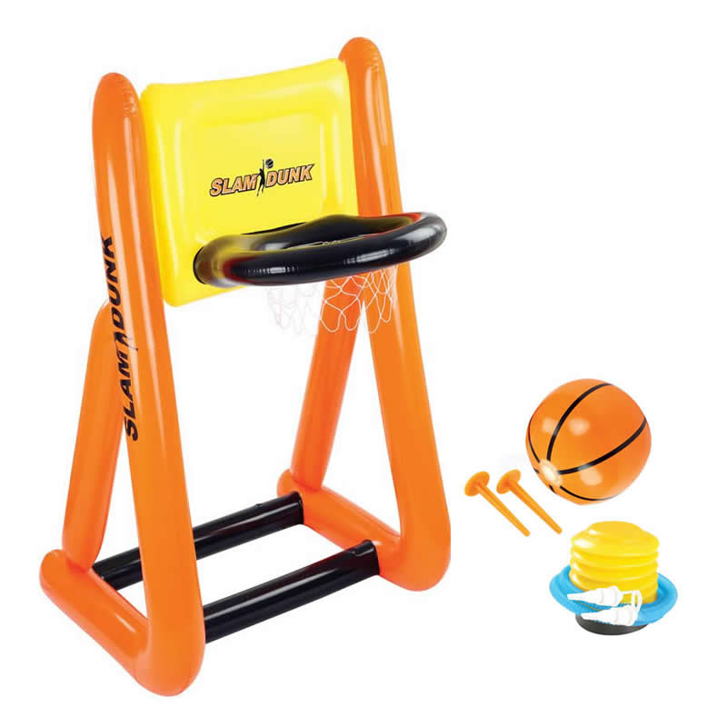Slam Dunk Inflatable Basketball Game Set