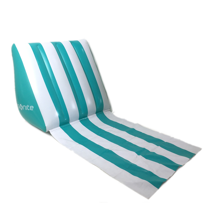 Wedge-shape Inflatable Beach Mat Festival Camping Leisure Lounge Back Pillow Cushion Chair