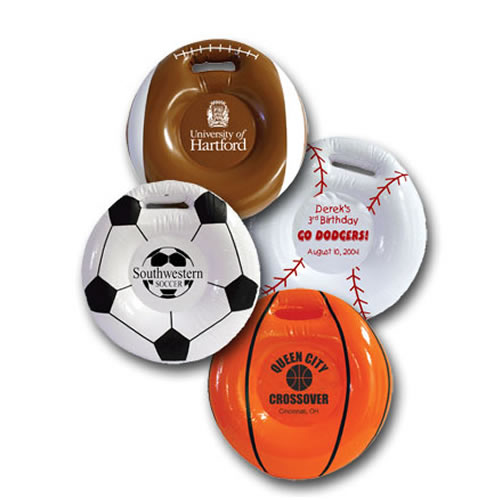 Inflatable Sport Seat Cushions Football, Baseball and Soccer