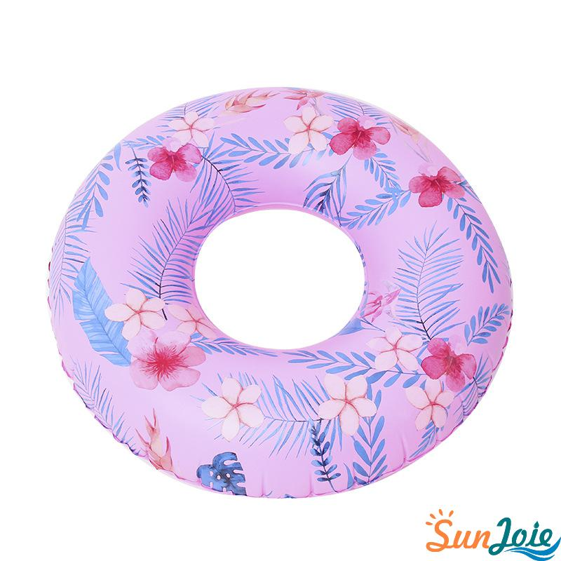 Floral Inflatable Swimming Ring