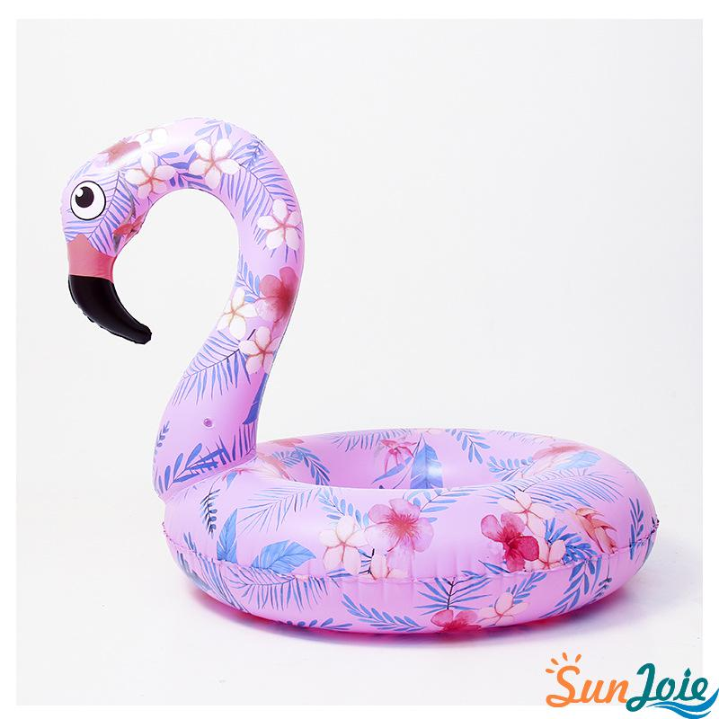Floral Inflatable flamingo pool raft swimming ring