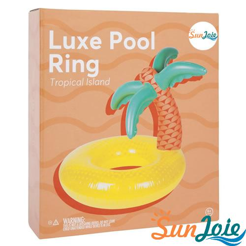 Tropical PVC Inflatable Palm tree Swimming Ring