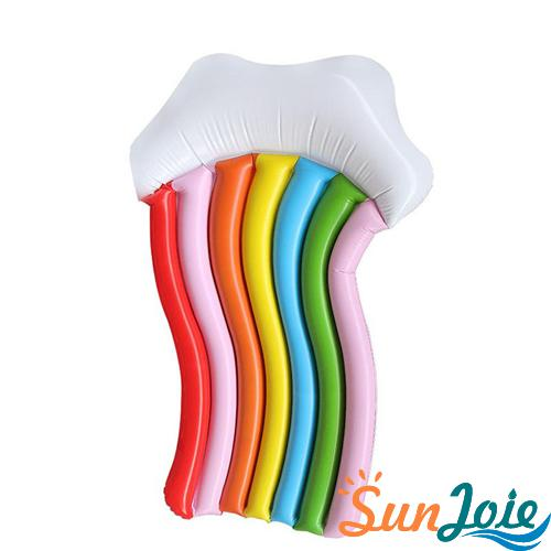 Rainbow inflatable pool float