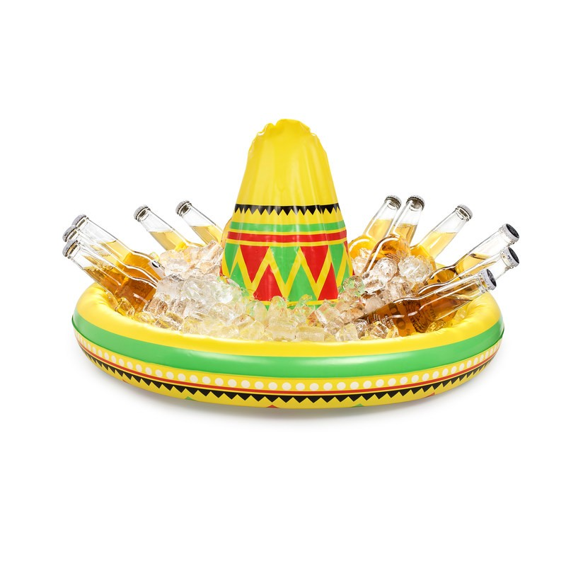 Inflatable Sombrero Hat Drinks Holder